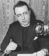 charles coughlin at microphone