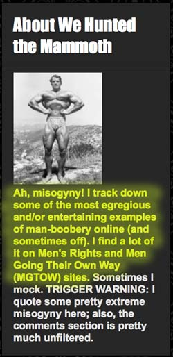 I track down the most egregious examples of manboobery online